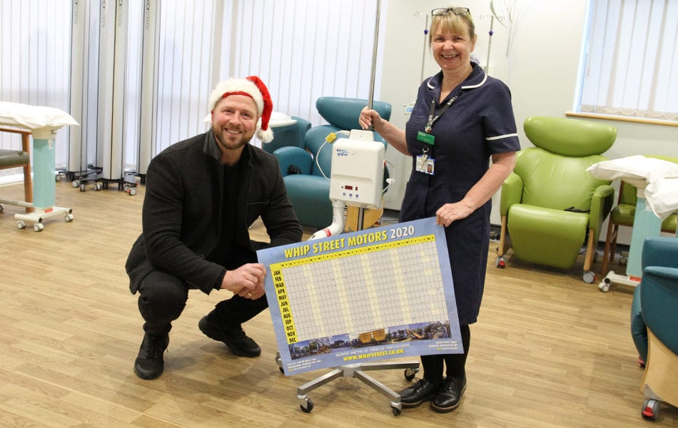 Whip Street purchase Airglove machine for the Woolverstone Macmillan Centre at Ipswich Hospital